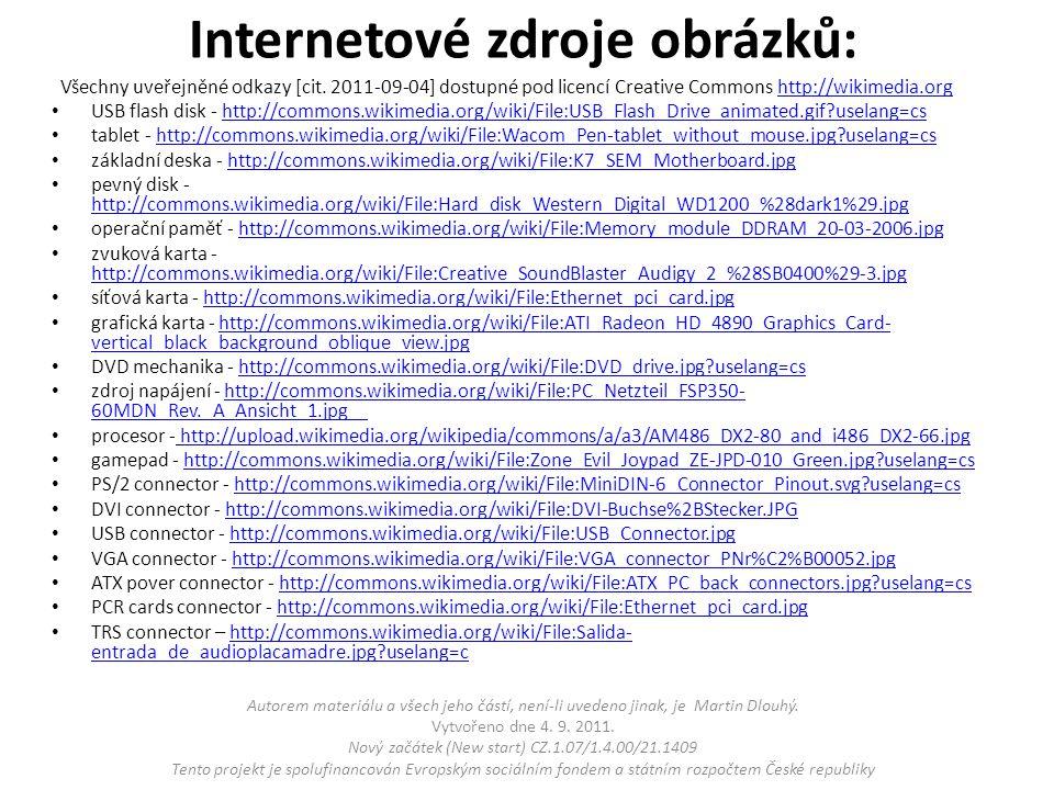 Internetové zdroje obrázků: