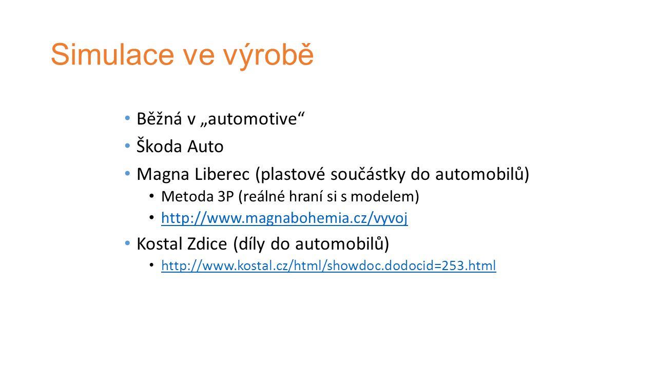 """Simulace ve výrobě Běžná v """"automotive Škoda Auto"""