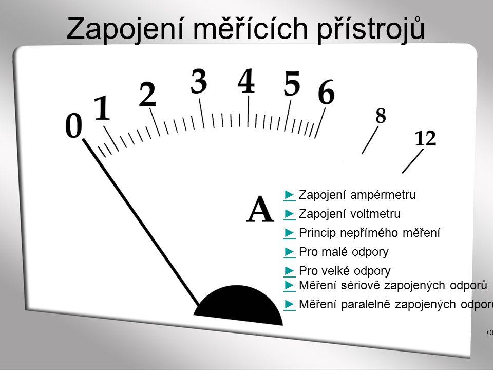 Zapojení měřících přístrojů