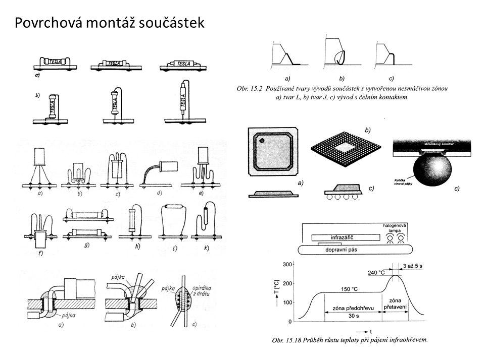 Povrchová montáž součástek