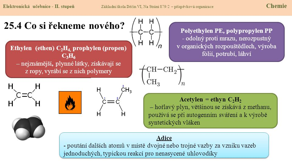 25.4 Co si řekneme nového Polyethylen PE, polypropylen PP