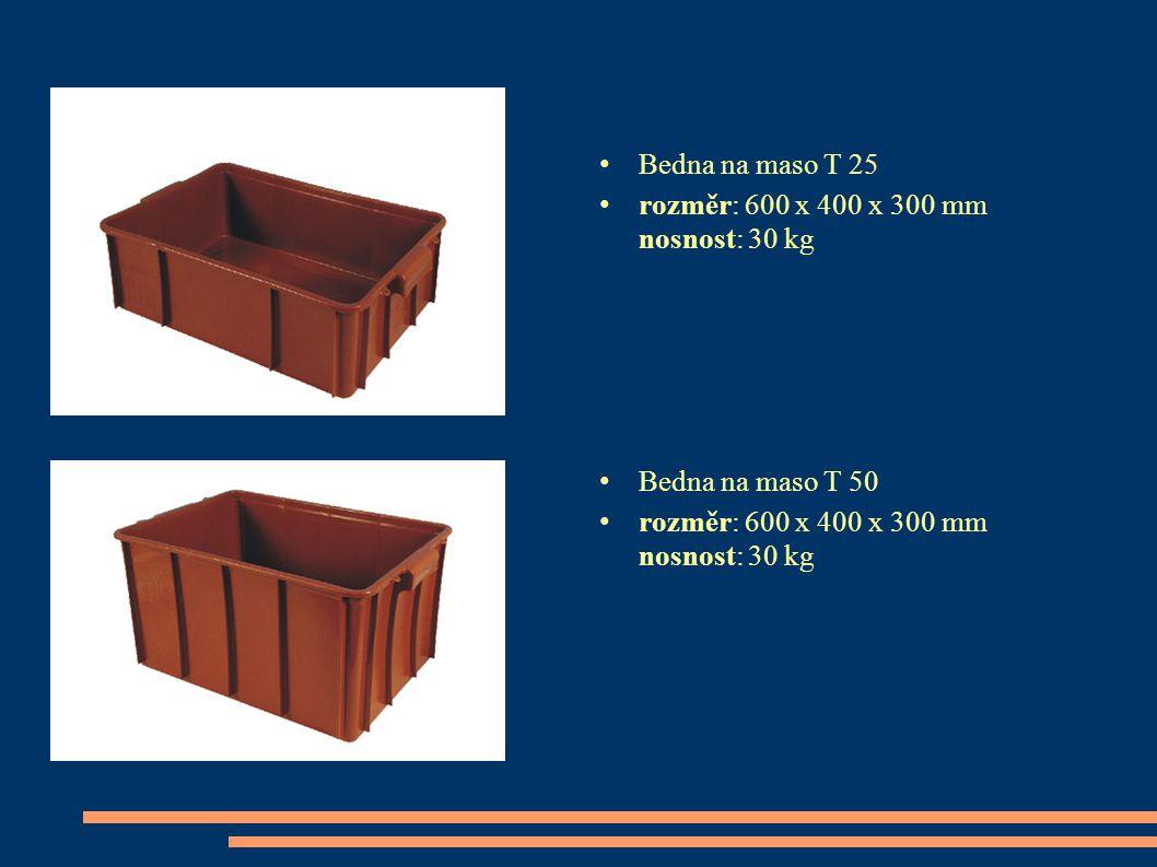 Bedna na maso T 25 rozměr: 600 x 400 x 300 mm nosnost: 30 kg Bedna na maso T 50