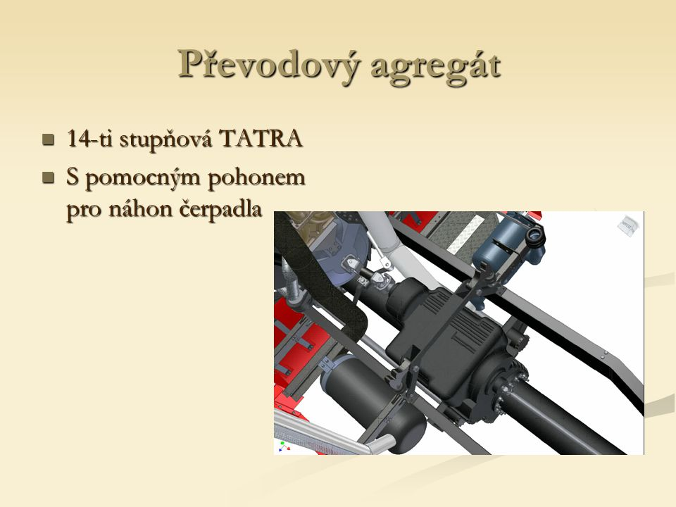 Převodový agregát 14-ti stupňová TATRA