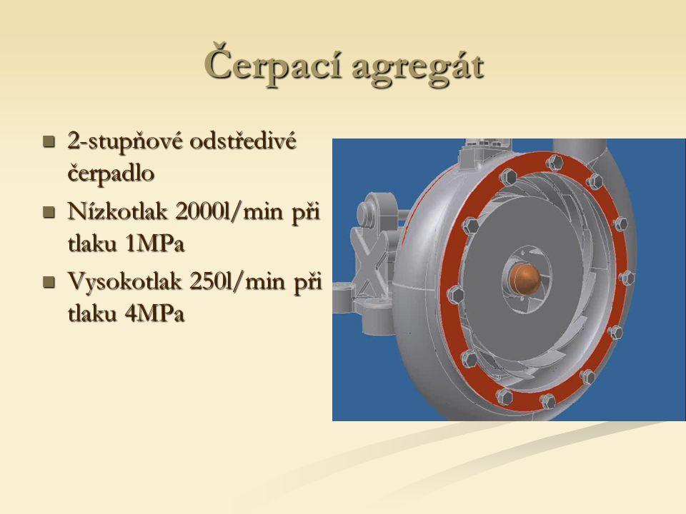 Čerpací agregát 2-stupňové odstředivé čerpadlo