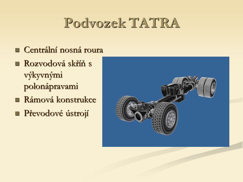 Podvozek TATRA Centrální nosná roura
