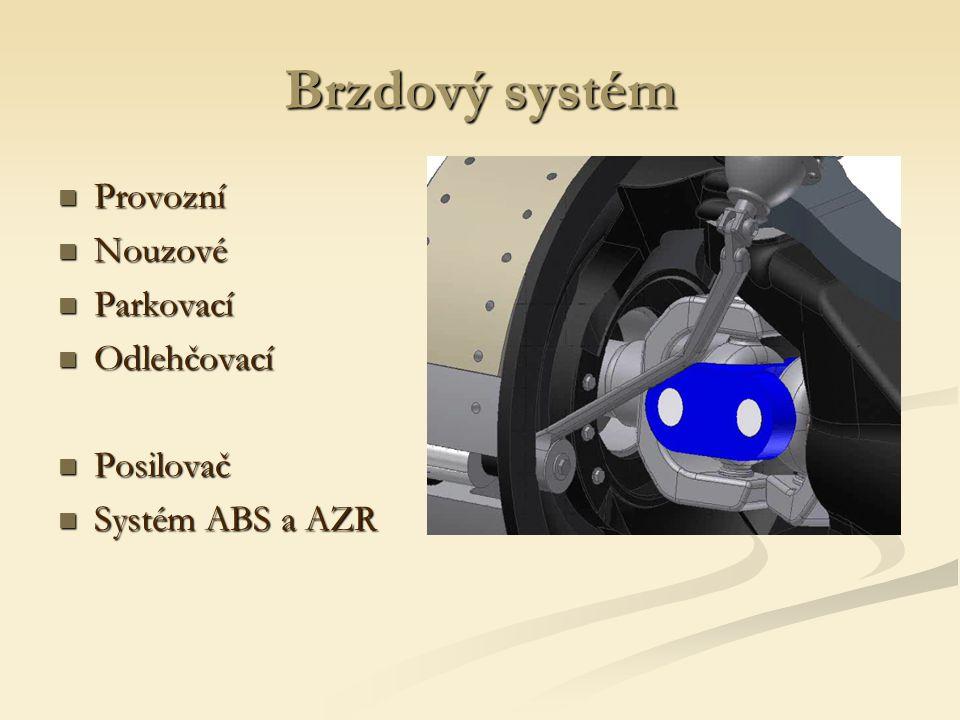 Brzdový systém Provozní Nouzové Parkovací Odlehčovací Posilovač