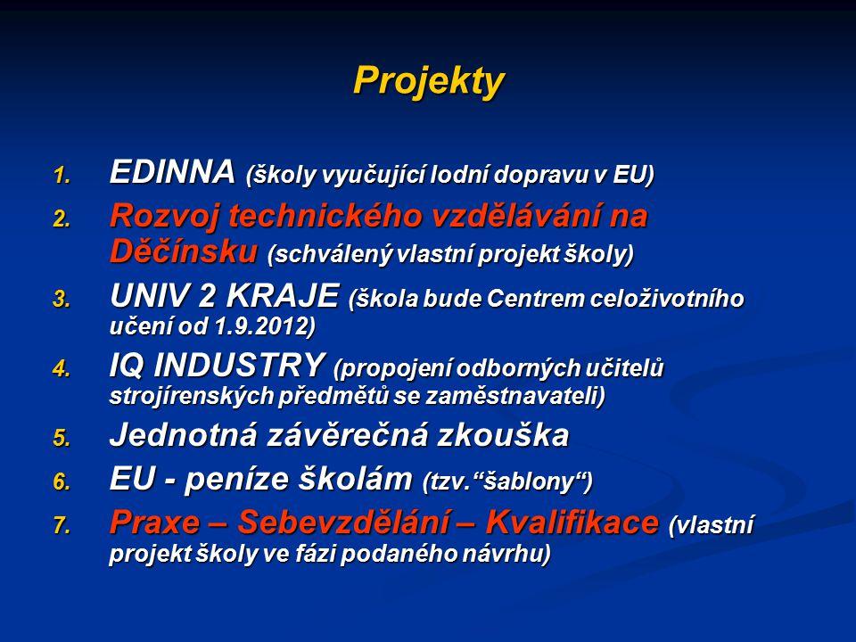 Projekty EDINNA (školy vyučující lodní dopravu v EU)