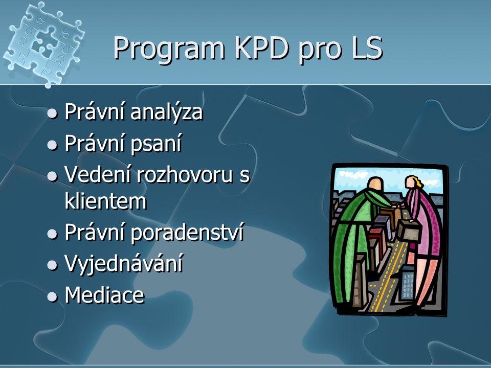 Program KPD pro LS Právní analýza Právní psaní