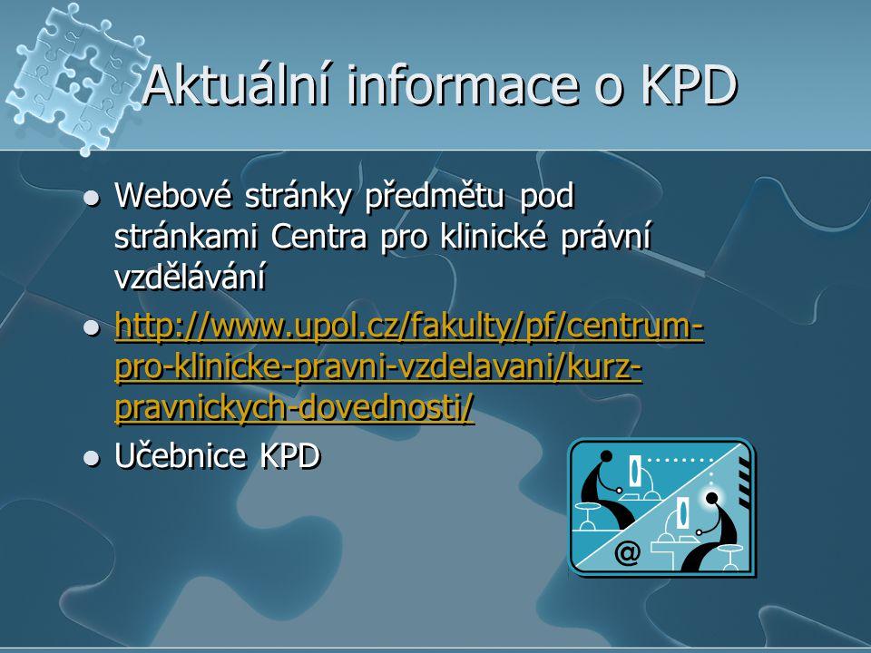 Aktuální informace o KPD