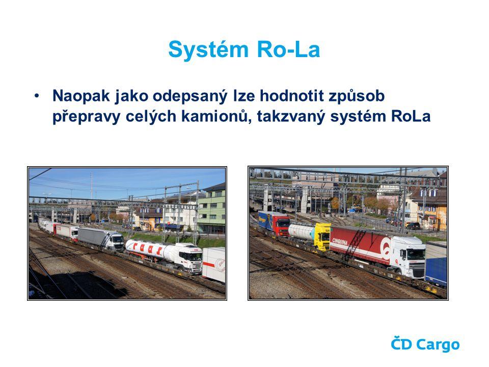 Systém Ro-La Naopak jako odepsaný lze hodnotit způsob přepravy celých kamionů, takzvaný systém RoLa.