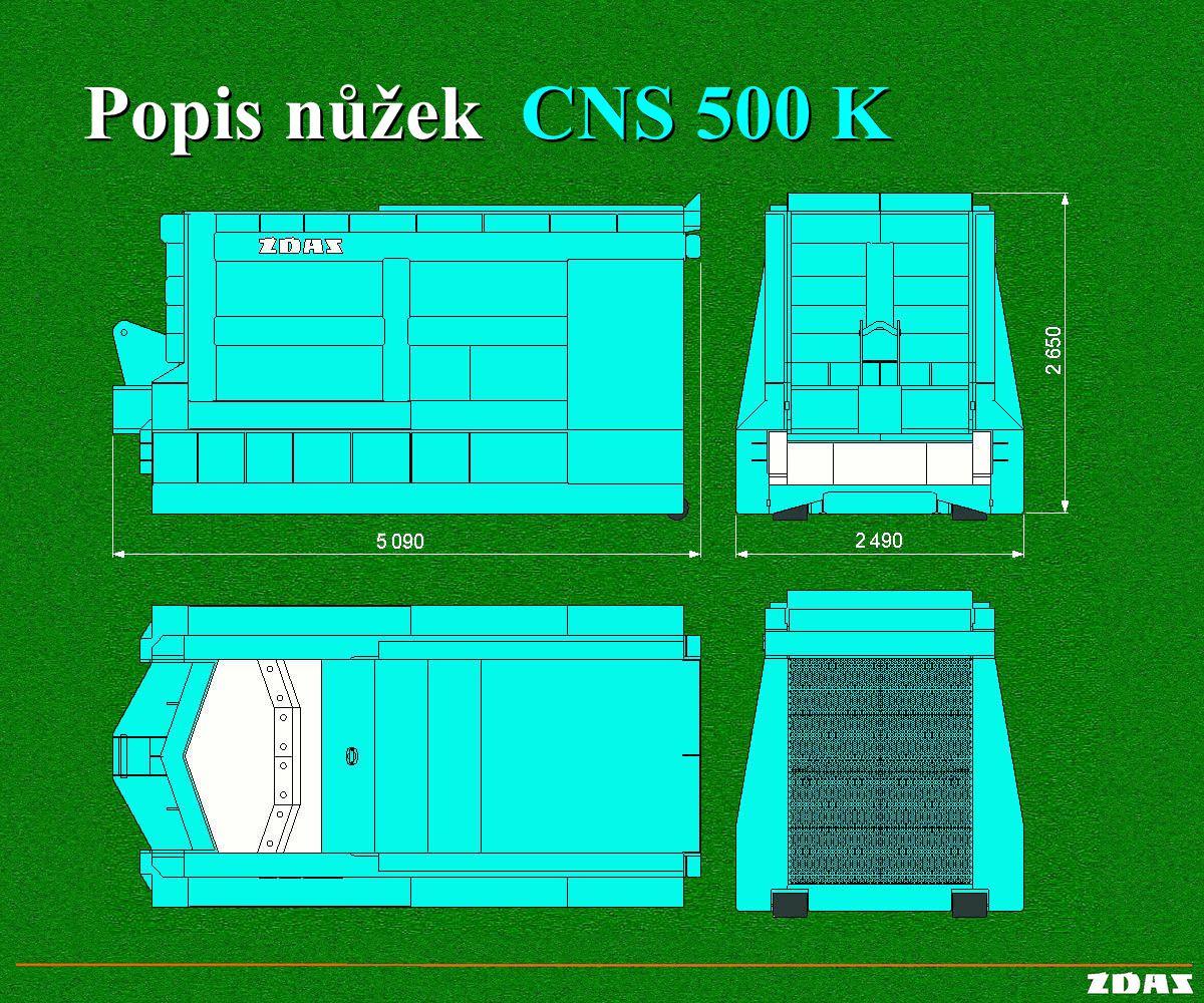Popis nůžek CNS 500 K