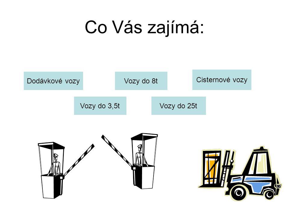 Co Vás zajímá: Cisternové vozy Dodávkové vozy Vozy do 8t Vozy do 3,5t