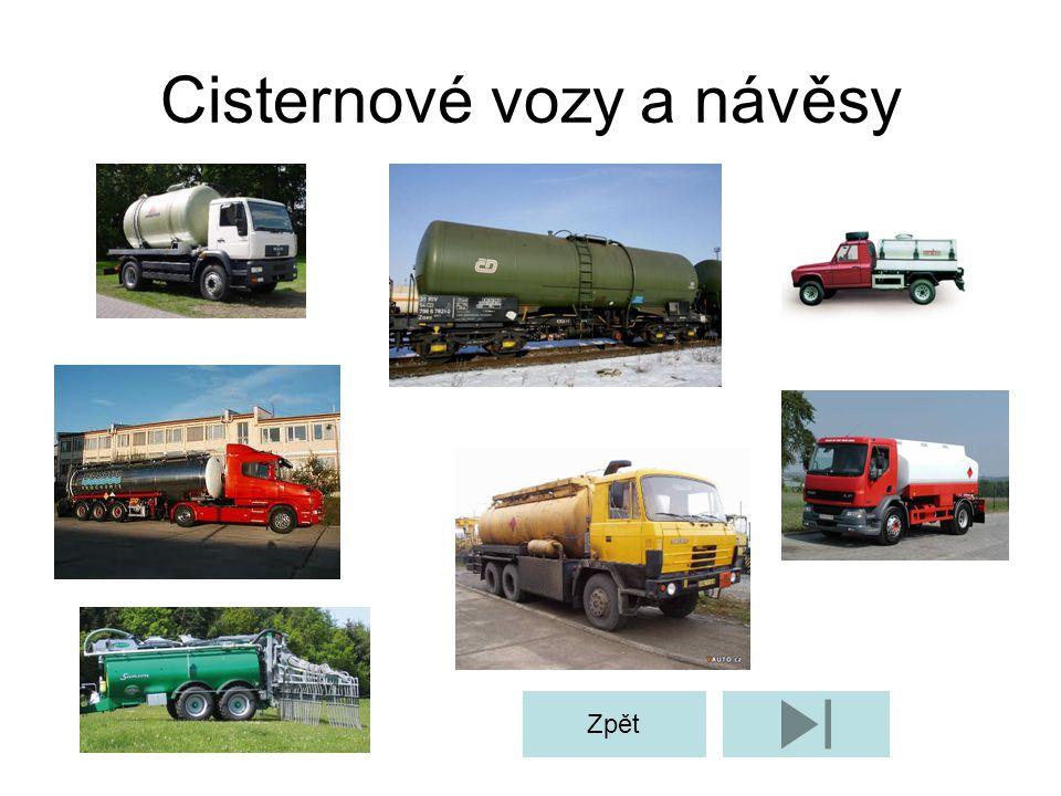 Cisternové vozy a návěsy