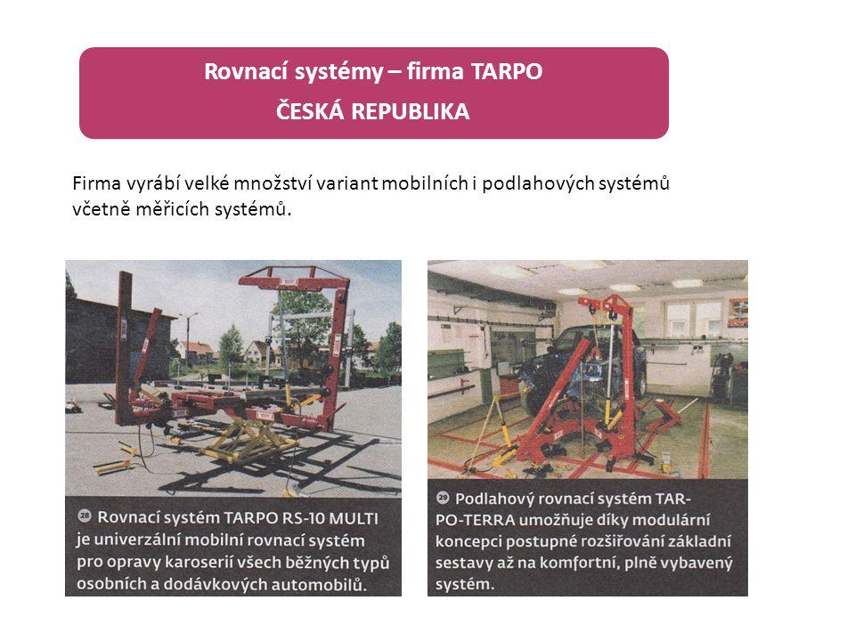 Rovnací systémy – firma TARPO