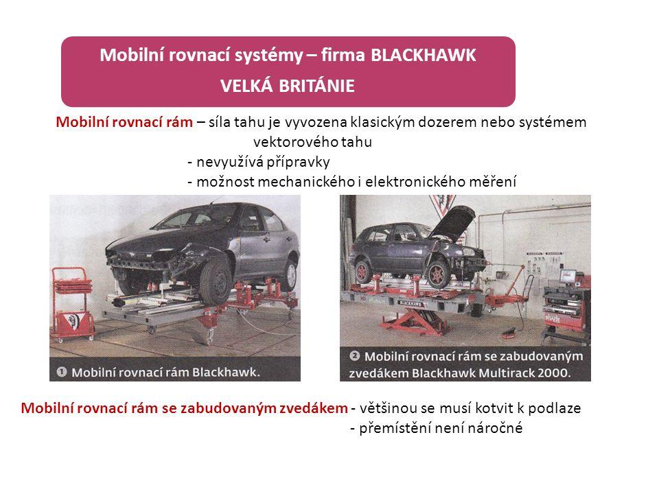 Mobilní rovnací systémy – firma BLACKHAWK