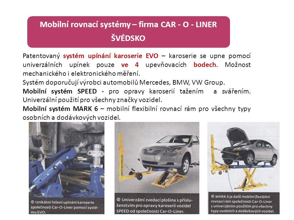 Mobilní rovnací systémy – firma CAR - O - LINER