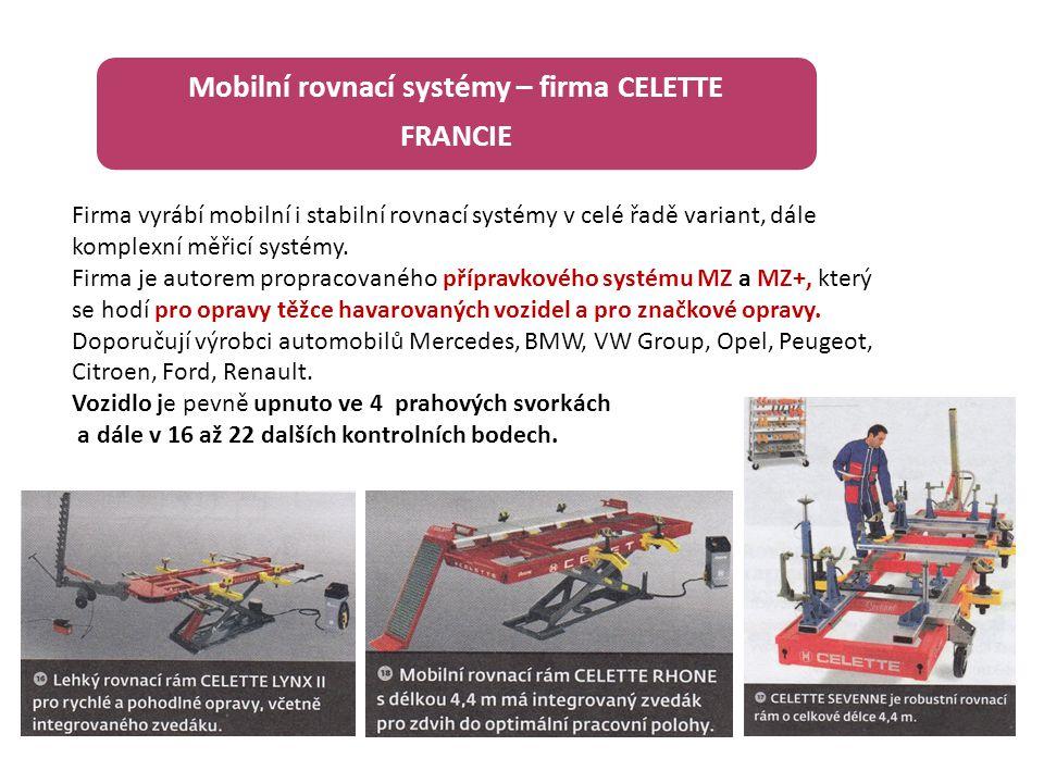 Mobilní rovnací systémy – firma CELETTE