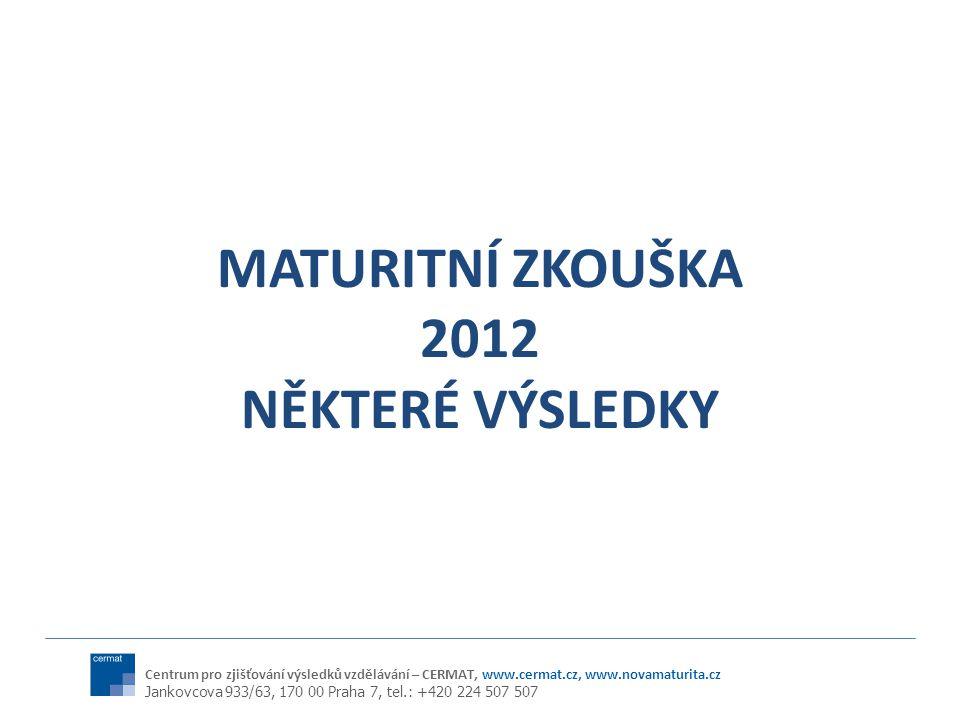MATURITNÍ ZKOUŠKA 2012 NĚKTERÉ VÝSLEDKY