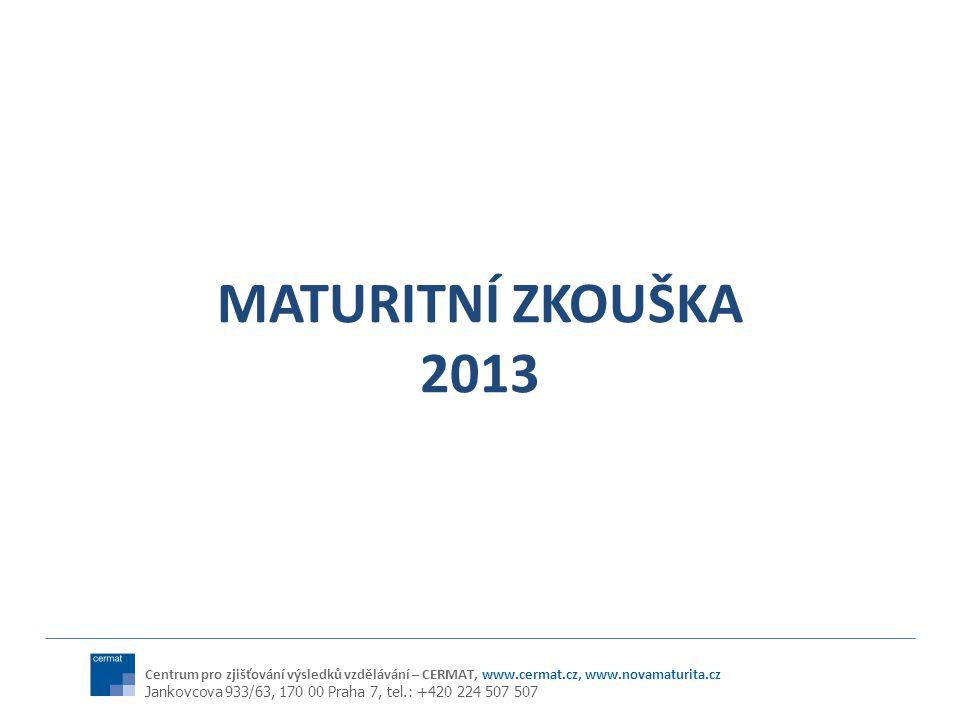 MATURITNÍ ZKOUŠKA 2013