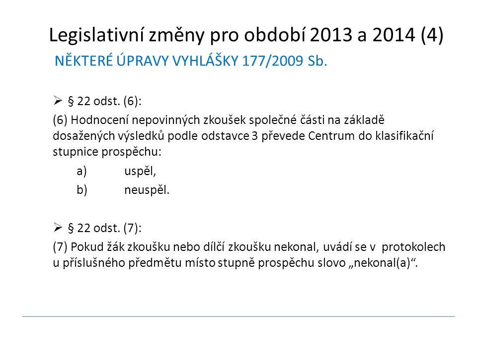 NĚKTERÉ ÚPRAVY VYHLÁŠKY 177/2009 Sb.