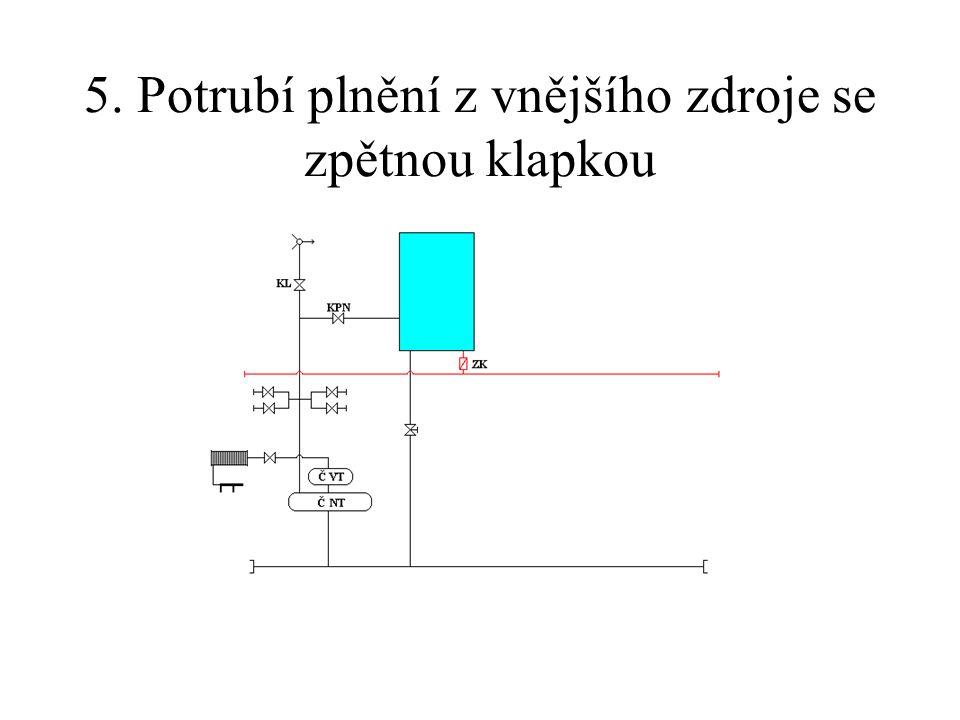 5. Potrubí plnění z vnějšího zdroje se zpětnou klapkou