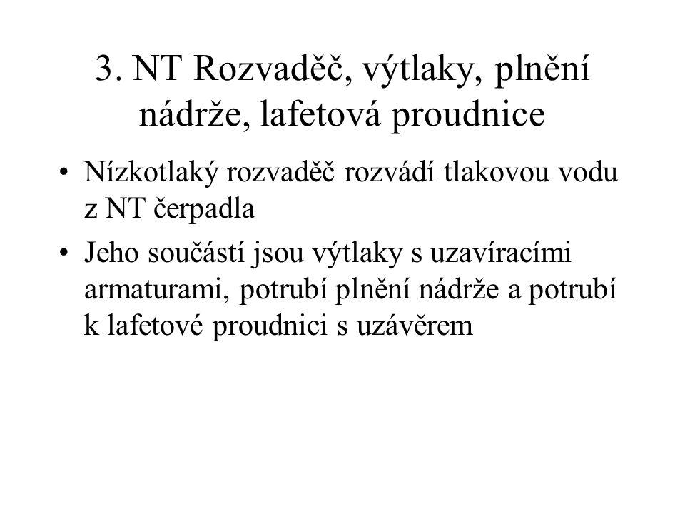 3. NT Rozvaděč, výtlaky, plnění nádrže, lafetová proudnice
