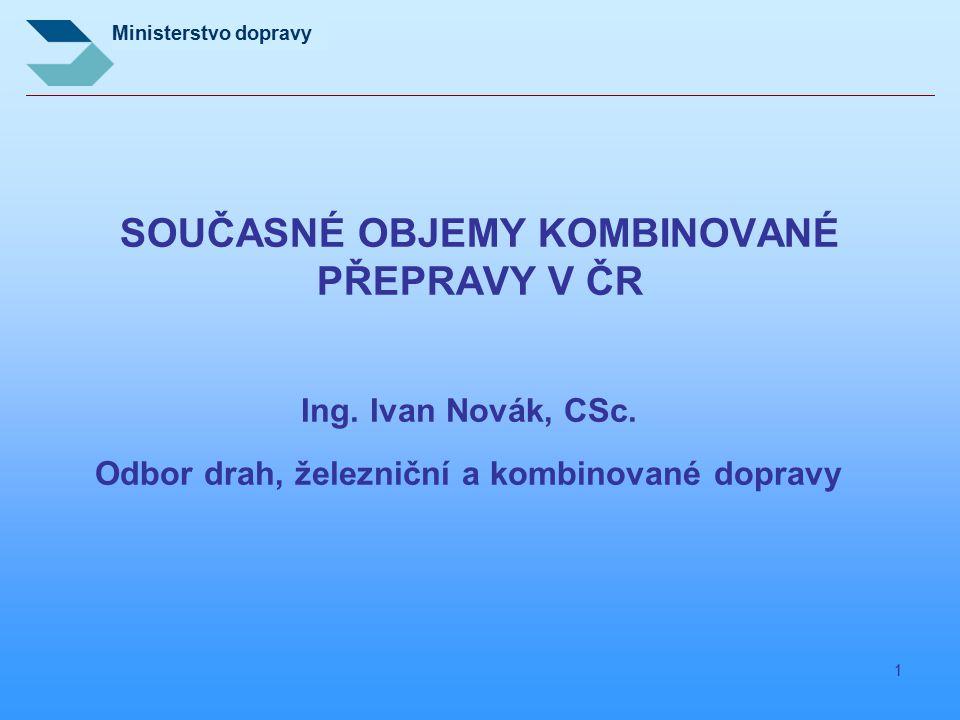 SOUČASNÉ OBJEMY KOMBINOVANÉ PŘEPRAVY V ČR