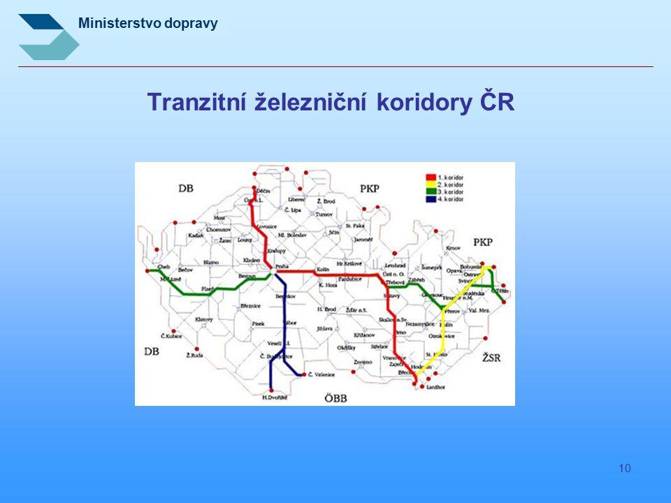 Tranzitní železniční koridory ČR