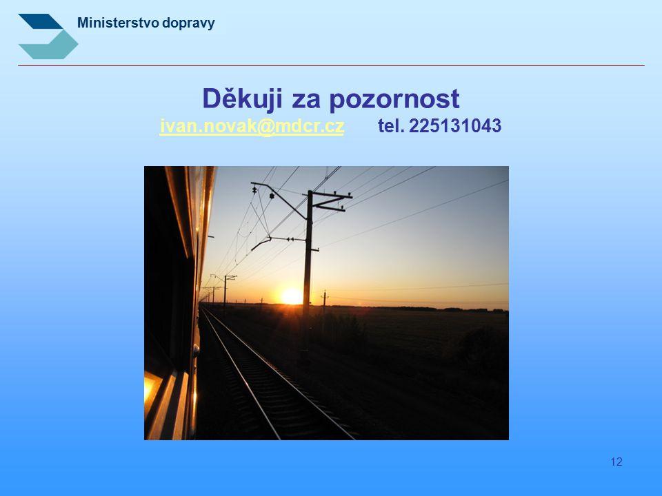 Děkuji za pozornost ivan.novak@mdcr.cz tel. 225131043