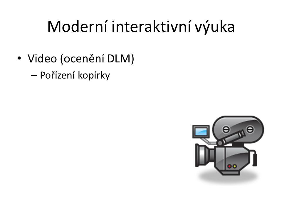 Moderní interaktivní výuka