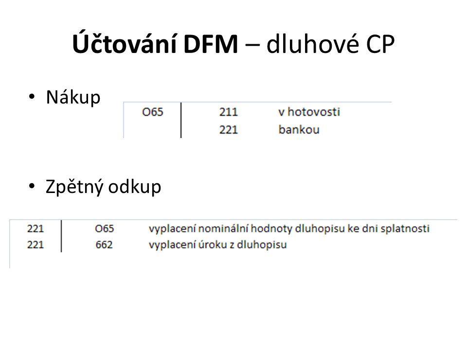 Účtování DFM – dluhové CP