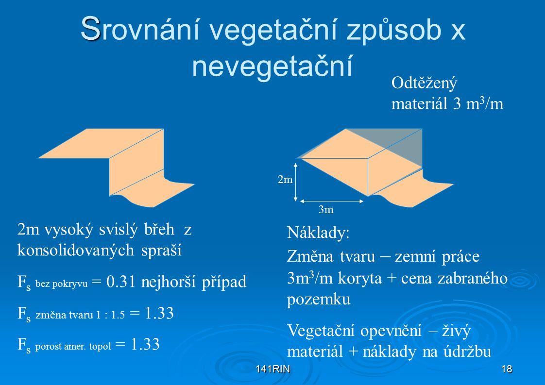 Srovnání vegetační způsob x nevegetační