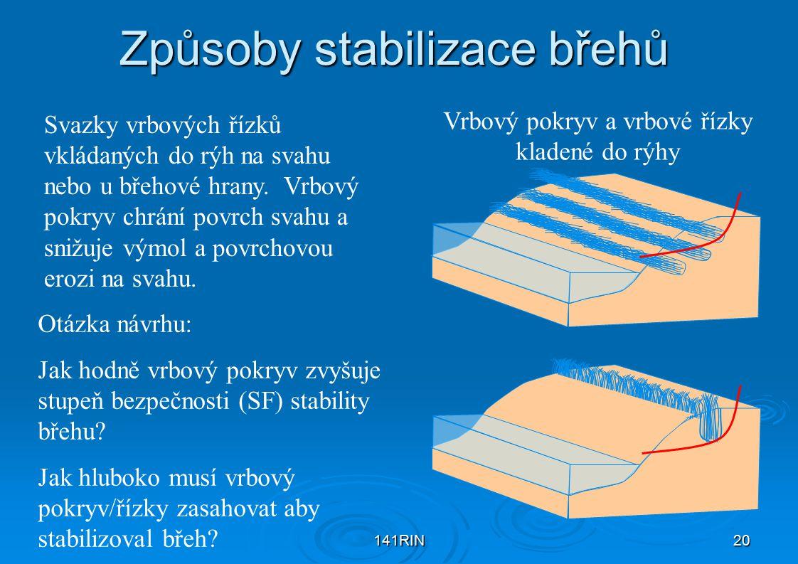 Způsoby stabilizace břehů