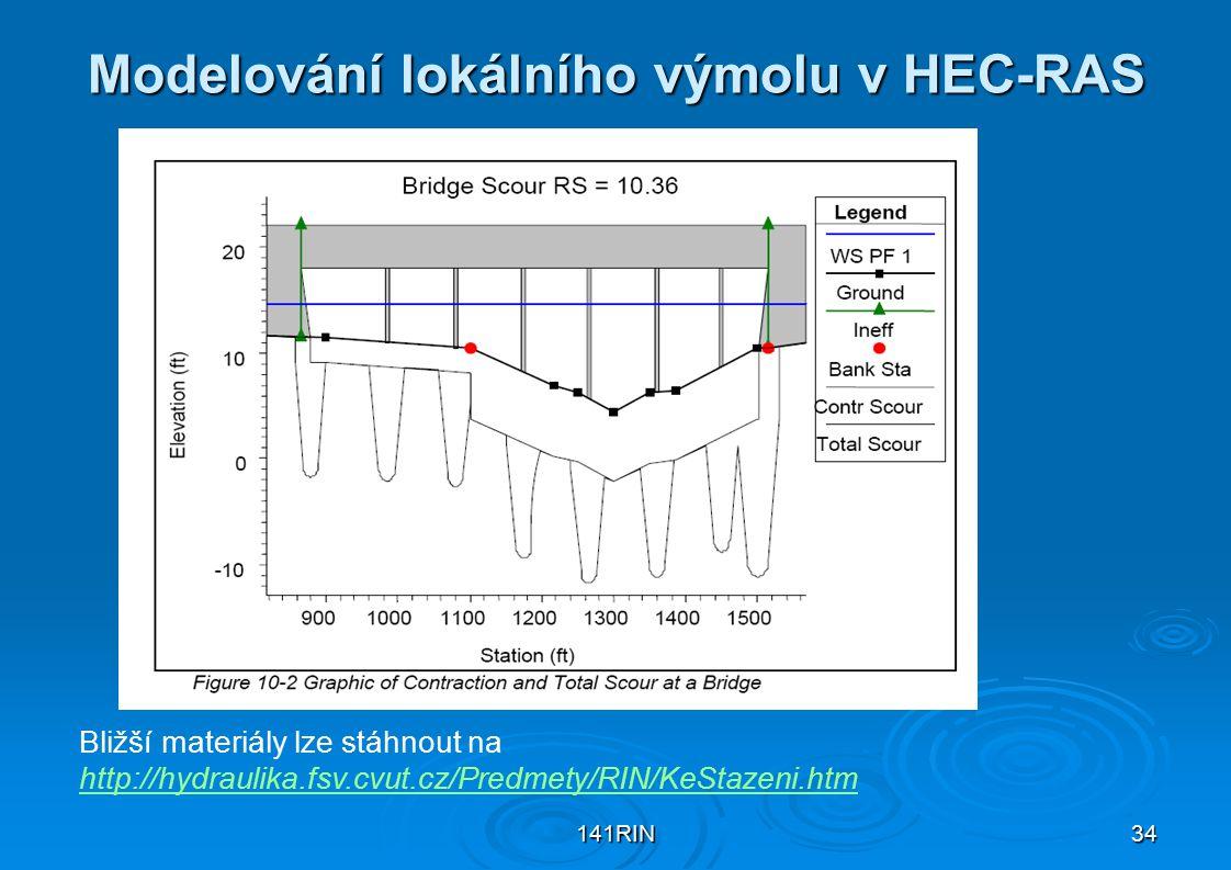Modelování lokálního výmolu v HEC-RAS