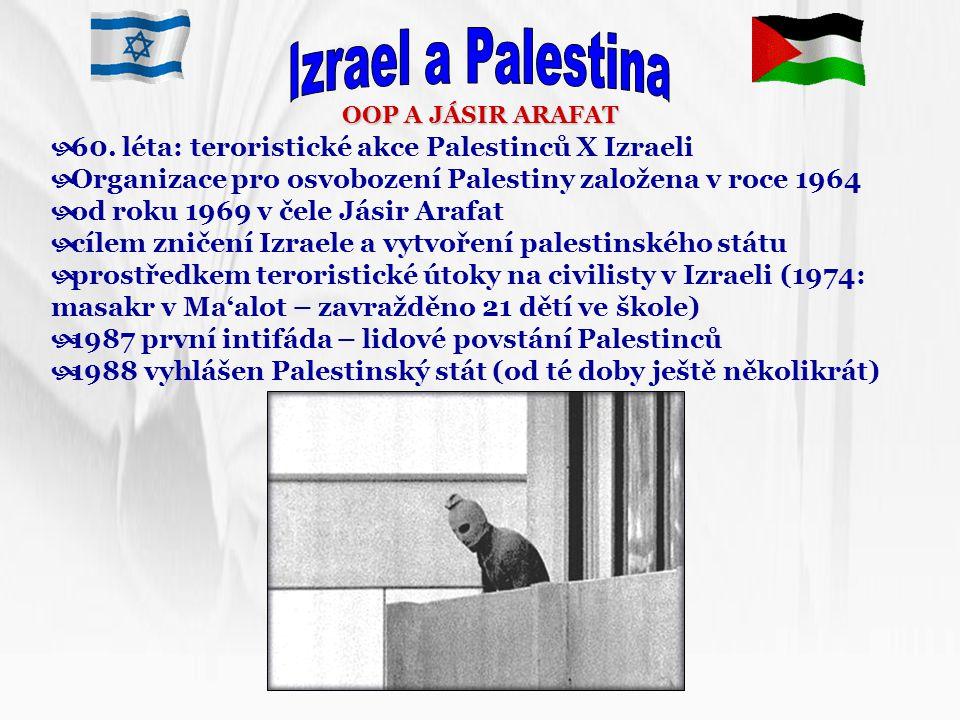Izrael a Palestina 60. léta: teroristické akce Palestinců X Izraeli