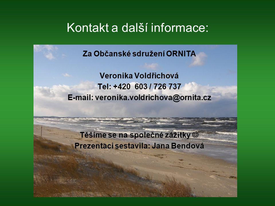 Kontakt a další informace: