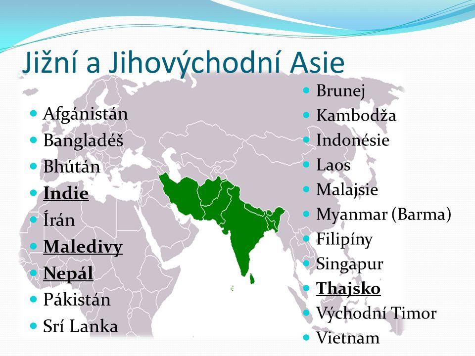 Jižní a Jihovýchodní Asie