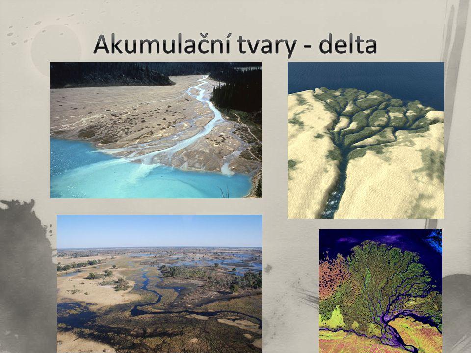 Akumulační tvary - delta