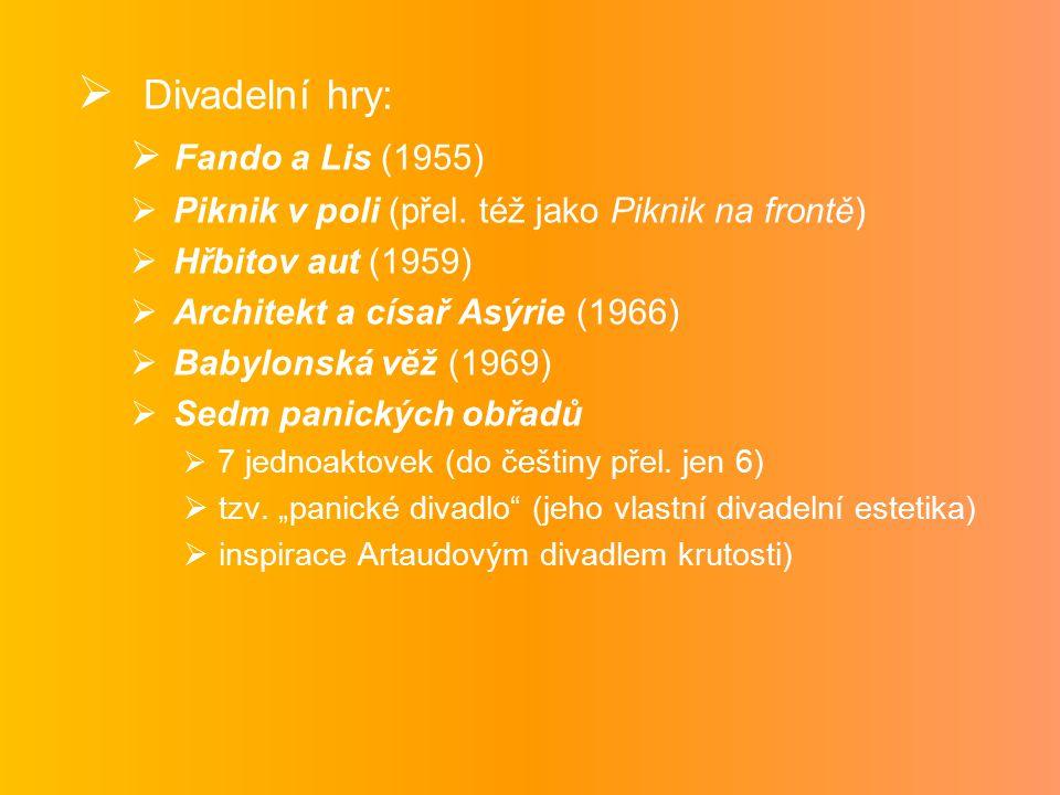 Divadelní hry: Fando a Lis (1955)