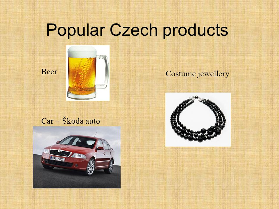 Popular Czech products