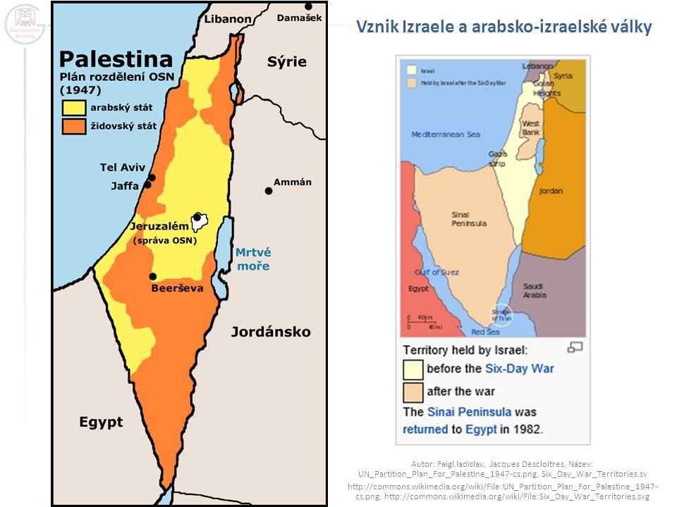 Vznik Izraele a arabsko-izraelské války