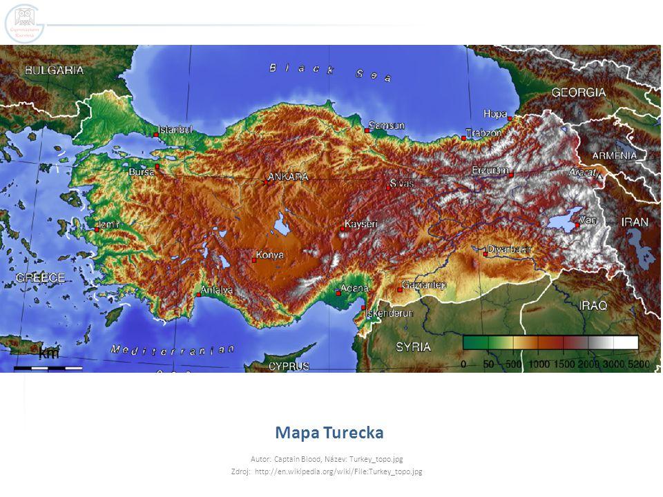 Mapa Turecka Autor: Captain Blood, Název: Turkey_topo.jpg