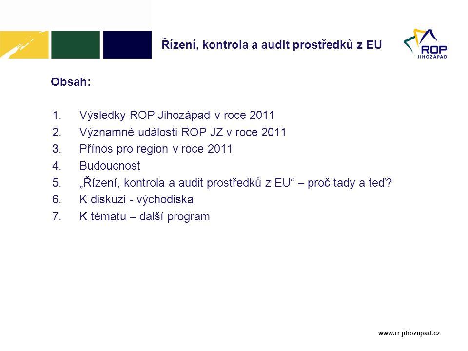 Řízení, kontrola a audit prostředků z EU
