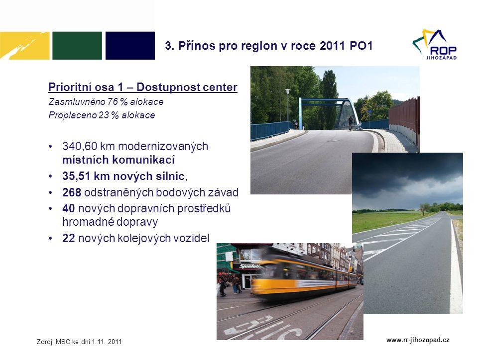 3. Přínos pro region v roce 2011 PO1