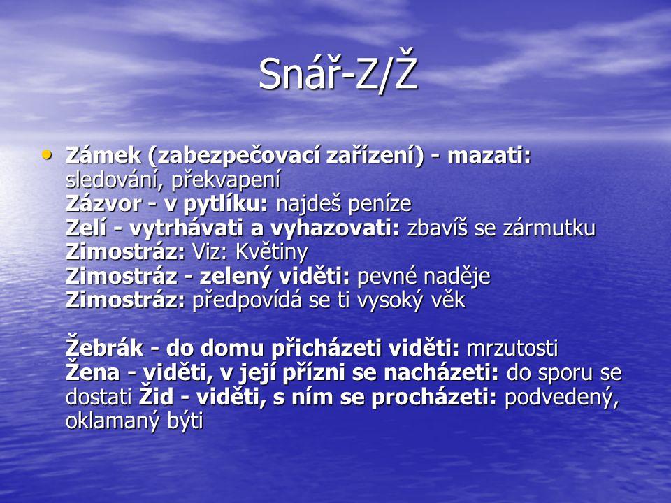 Snář-Z/Ž