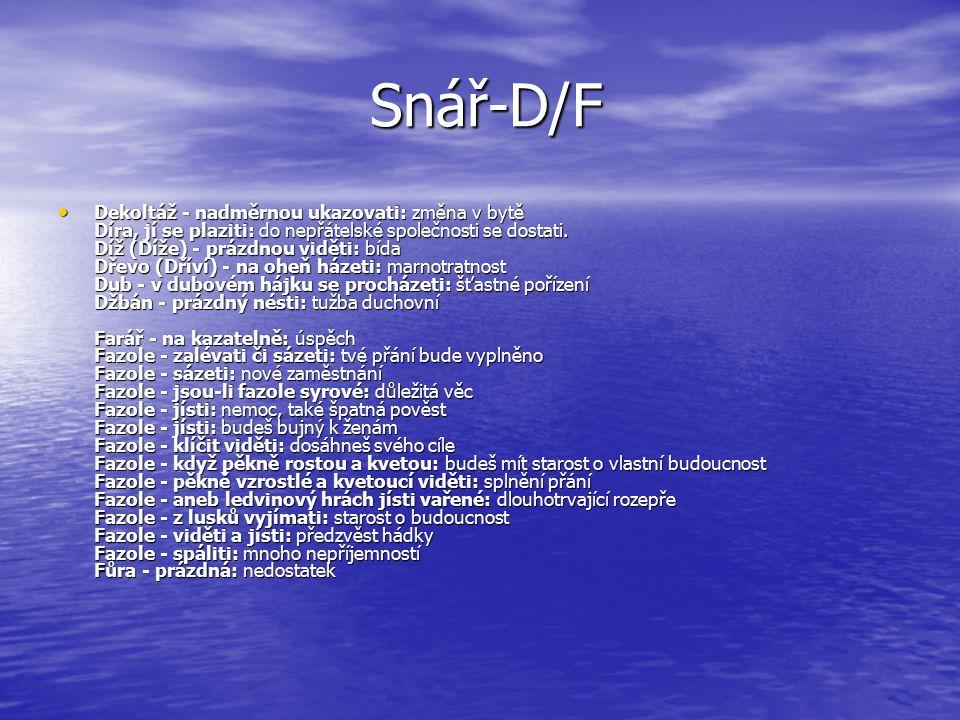 Snář-D/F