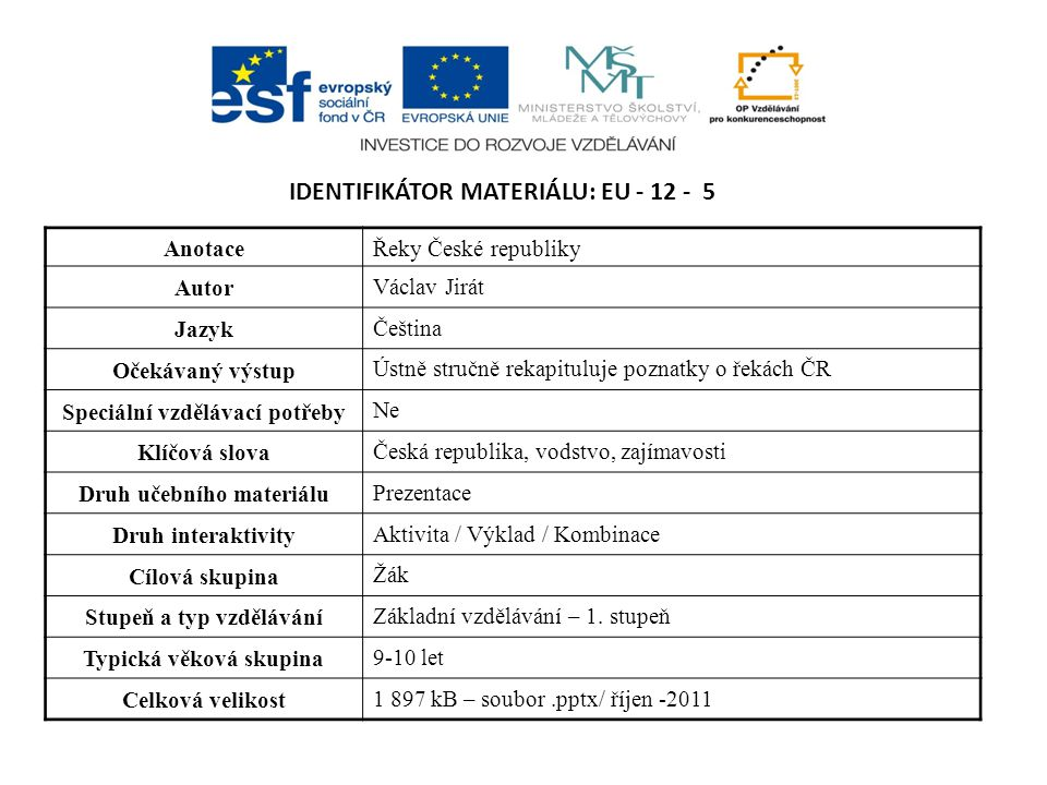 Identifikátor materiálu: EU - 12 - 5