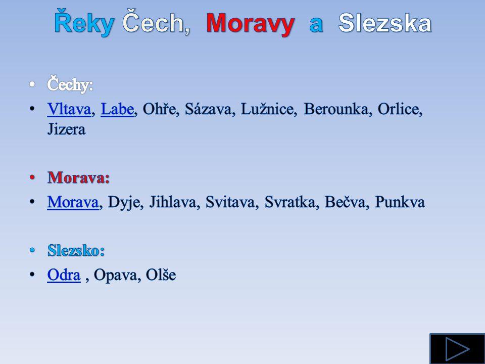 Řeky Čech, Moravy a Slezska