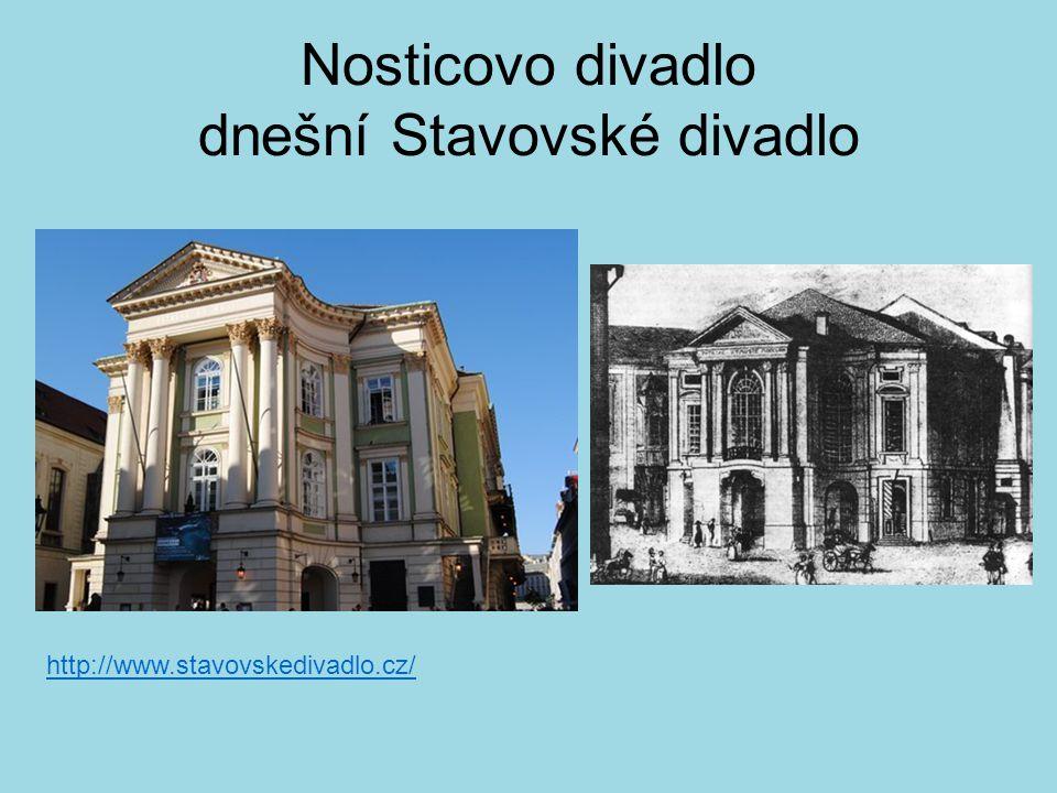 Nosticovo divadlo dnešní Stavovské divadlo