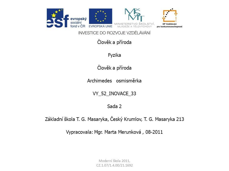 Archimedes osmisměrka VY_52_INOVACE_33 Sada 2